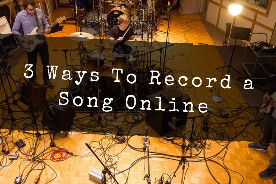 how to record a song online