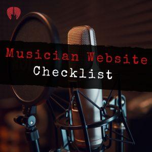 musician/music producer website