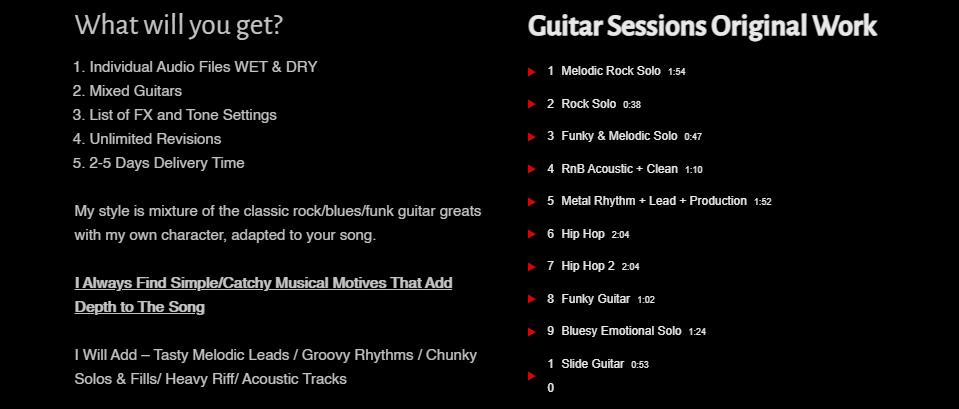 website for working musicians