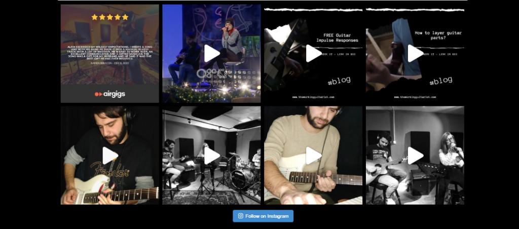working musician website