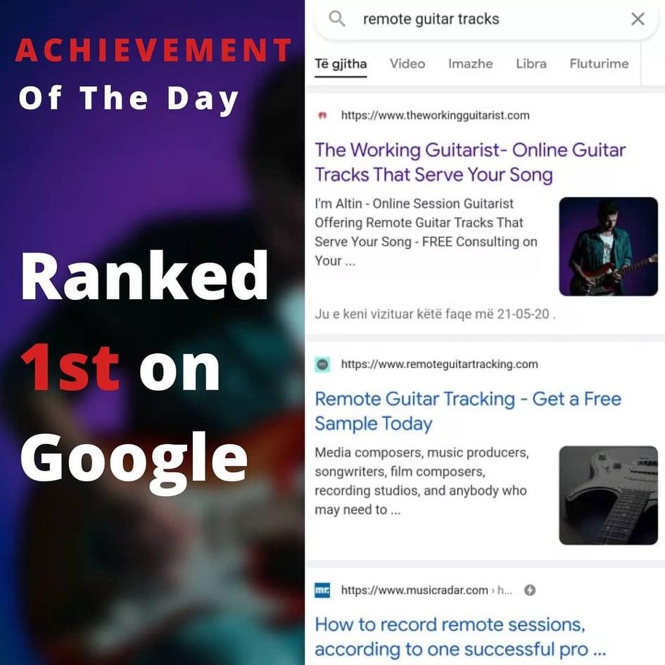 Musician Website SEO